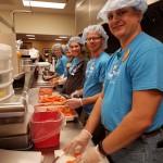 RHCC's Rehab team helped cut up carrots