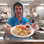 Diana Rian served the delicious roast turkey meal