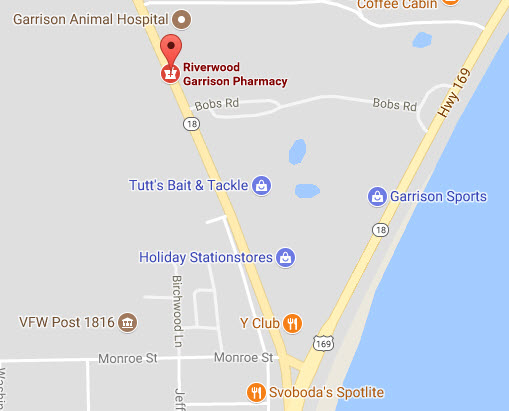 Map to Garrison Pharmacy in Garrison, MN